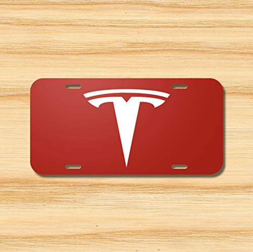 Novelty Accessories License Plate Art Tesla License Plate Vehicle Auto Vehicle Tag Model S X 3 Red Electric Car New