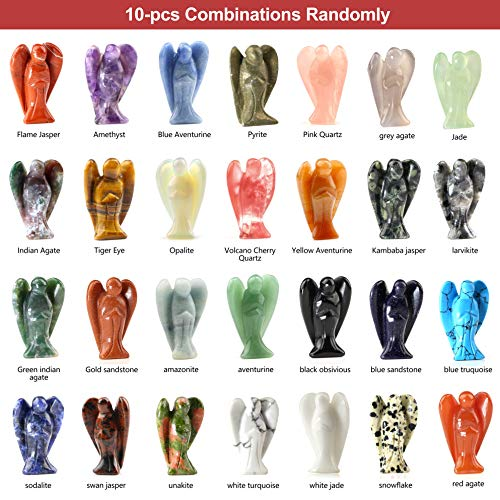Angel Figurines Wholesale - Whoelsale Hand Carved Gemstone Crystals Pray Angel 1.6