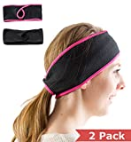 Brave Ponytail Outdoor Fleece Headband (2 pack Black - Pink & Black - Black)