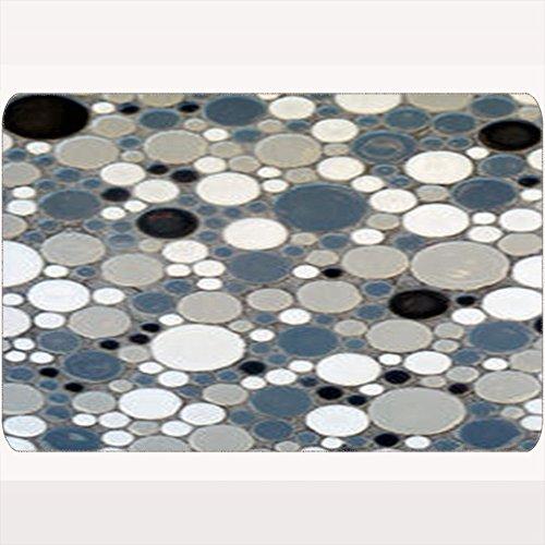 DIYCow Door Mats Welcome Doormats Retro Circle Tile Textures Miscellaneous Home Decor Non-Slip 16X24 Inches Indoor/Outdoor/Front Door/Bathroom Mats