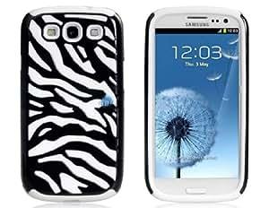 Plástico y silicona protectora Zebra Set para Samsung Galaxy S3 (Blanco y Negro)