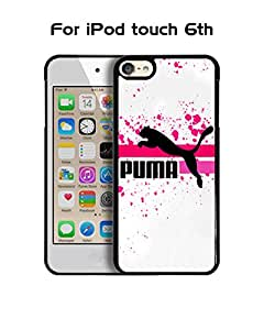 Puma IPod Touch 6th Funda Case, Brand Logo Protecive Snap On Anti Slip Vintage Personalized Ultra Slim Fit for IPod Touch 6th