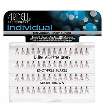 b832be12207 Amazon.com : Ardell Knot-Free Individual Lash, Brown, Short : Fake Eyelashes  And Adhesives : Beauty