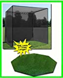 Golf Mat, Golf Net Cage, 10'x10'x10 Golf Net Golf Cage and 5'x5' Octagon Residential Golf Mat. Our Dura-Pro 10'(d) x 10'(h) x10'(w) Golf Cage Golf Net Comes With High Velocity Strong Impact Golf Netting and a High Impact Double Back Stop and Targe
