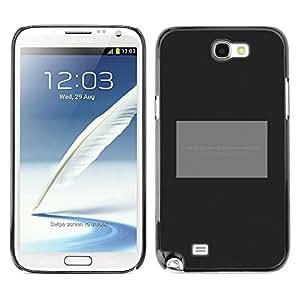 Caucho caso de Shell duro de la cubierta de accesorios de protección BY RAYDREAMMM - Samsung Galaxy Note 2 N7100 - Poster Grey Black Minimalist Text