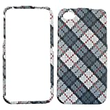 Cell Armor Snap-On Case for iPhone 4/4S - Retail Packaging - White and Gray Plaid