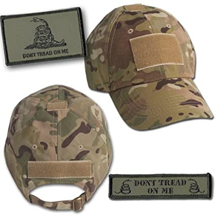 Amazon.com  Gadsden Tactical Hat   Patch Bundle (2 Patches + Hat ... 0894b99af00