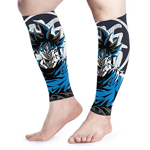 HYHACZX Goku Ultra Instinct Calf Compression Sleeve (sequential Compression, Unisex Ergonomics) (Ideal for Sports, Work, Flight, Pregnancy) Ect-Support Sore Muscles & Joints, 1 Pair ()