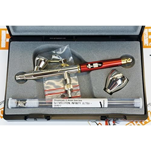 Image of Airbrush Sets Harder and Steenbeck Infinity 2in1 two in one airbrush 0.2mm + 0.4mm nozzle sets by SprayGunner