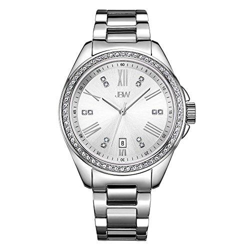 JBW Women's Capri J6340D Silver Diamond Watch