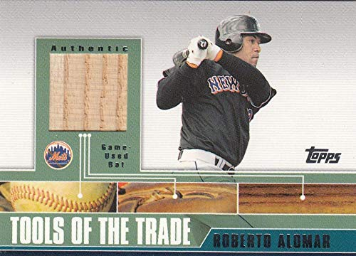 2002 Traded Tools of the Trade Relics #AB Roberto Alomar Bat NM-MT+ MEM New York Mets from Traded