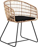 Finch CHR10089A Rattan Lounge Dining Chair Black