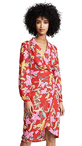 Diane von Furstenberg Women's Carla Dress, Celebration Floral Red, 0 from Diane von Furstenberg