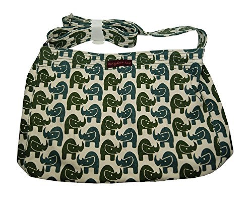 Bungalow360 Snap Messenger Bag - Rhino Print