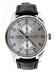 Parnis Portugal Style Men's Automatic Watch Seagull Movement St25 Power Reserve Sapphire