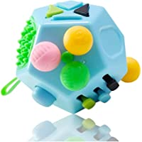12 Sides Fidget Cube, Dodecagon Fidget Toy Dice Stress and Anxiety Relief Portable for Children and Adults with ADHD ADD…