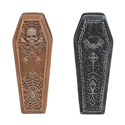 Department 56 Village Collections Accessories Halloween Ghastly Coffins Figurines, 0.87