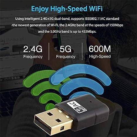 TFXHGGM Mini Adaptador USB Inalámbrico WiFi LAN tarjeta de ...