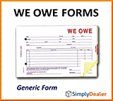 We Owe Forms (SA-1506-3 Generic 3-Part Forms (Quantity 100))