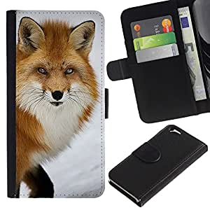 KingStore / Leather Etui en cuir / Apple Iphone 6 / Clever Hiver nature animale
