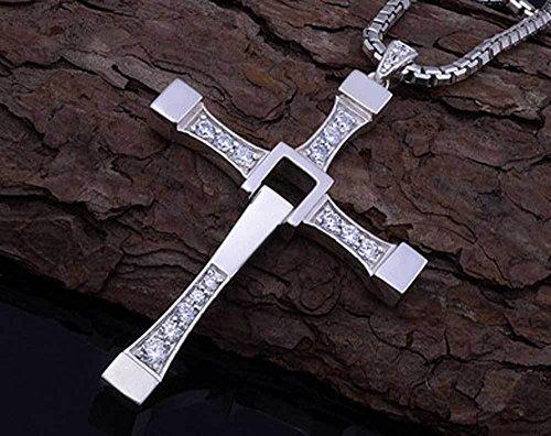 Pendant Necklace Stainless Unisexs Crucifix