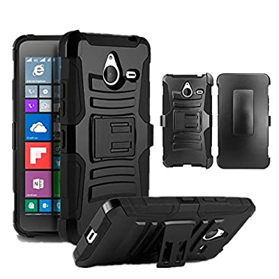"Microsoft Lumia 640XL 5.7"" Case, [Storm Buy ] Premium Hard & Soft Sturdy Durable Rugged Shell Hybrid Protective [ Anti Scratch ] Phone Case Cover with Built in Kickstand For Microsoft Lumia 640XL 5.7"" from Storm buy"