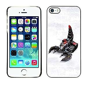 Be Good Phone Accessory // Dura Cáscara cubierta Protectora Caso Carcasa Funda de Protección para Apple Iphone 5 / 5S // Robot Scorpion