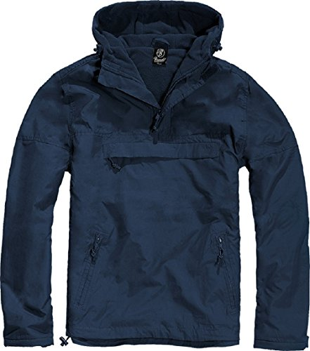 Brandit Men's Windbreaker Navy Blue size (Fleece Lined Anorak)