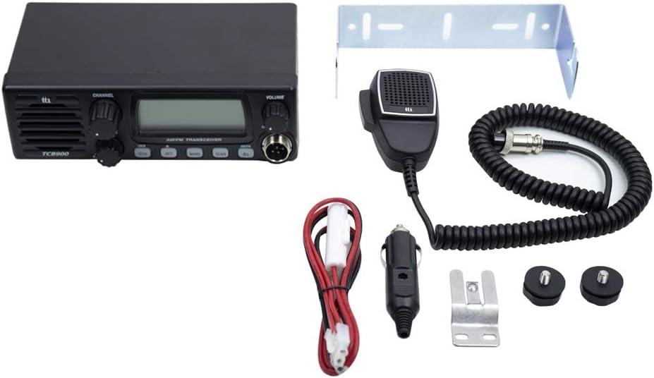 Radio TTi TCB-900 12-24V power supply with front speaker AM-FM 12V-24V Scan ASQ Lock