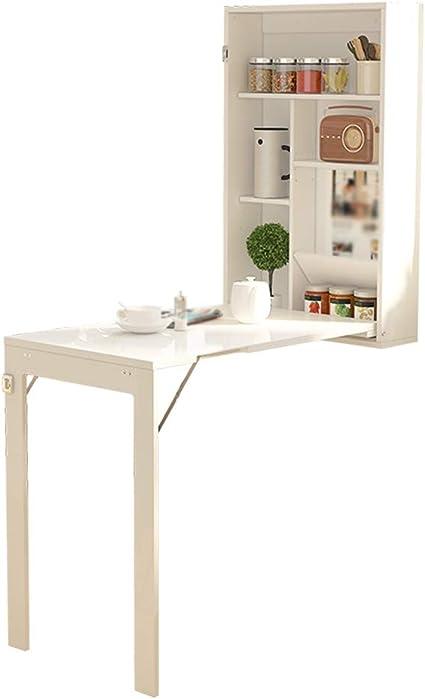 Fta Table Pliante Murale Table A Abattant Pour Cuisine Buanderie Petit Espace De Travail Convertible En Bureau Convertible Blanc 82 Cm 51 4 Cm Amazon Fr Cuisine Maison