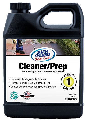 Rain Guard Water Sealers SP-1000 Cleaner/Prep Concentrate for Wood and Masonry Surfaces. 32 Oz Makes 1 Gallon
