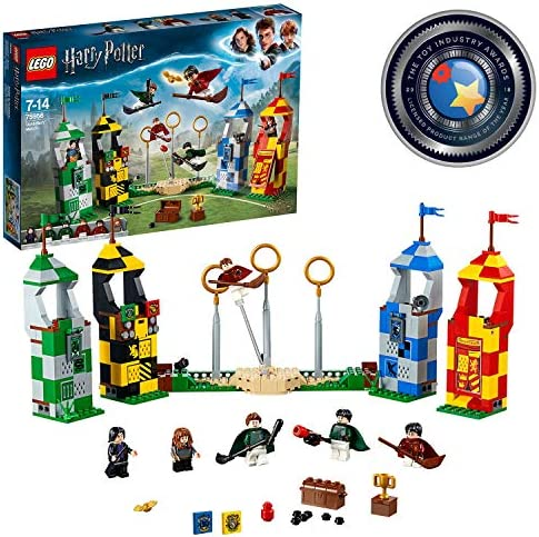 Lego 75956 Harry Potter Quidditch Match Building Set Gryffindor Slytherin Ravenclaw And Hufflepuff Towers Harry Potter Toy Gifts Toys Games