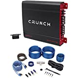 Crunch PX-2000.1D 2000 Watt Mono Powerful Car Audio Amplifier+Amp Wire Kit