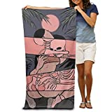 DIMANNU Bath Towel Sex Skull Patterned Soft Beach Towel 31''x 51'' Towel With Unique Design