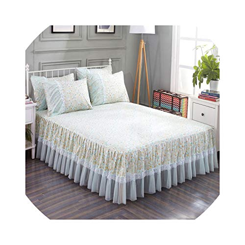 Bedspread Bed Covers and Bedspread Plant Bedding Bed Spread Cover 1200cm Ruffle Pillowcases Lace Bed Skirt Set Bed Cover Lace,Xinhua Xu,1800cm 3pcs