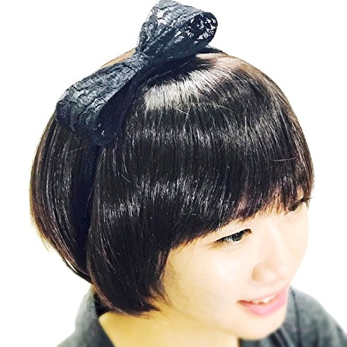 [Black Bow Headbands :H22 (Lac)] (Buddy The Elf Costume Target)
