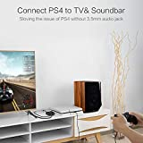 Tomsenn 4K x 2K HDMI Audio Extractor Converter HDMI to HDMI and Optical TOSLINK SPDIF + 3.5mm Stereo HDMI Audio Splitter Adapter