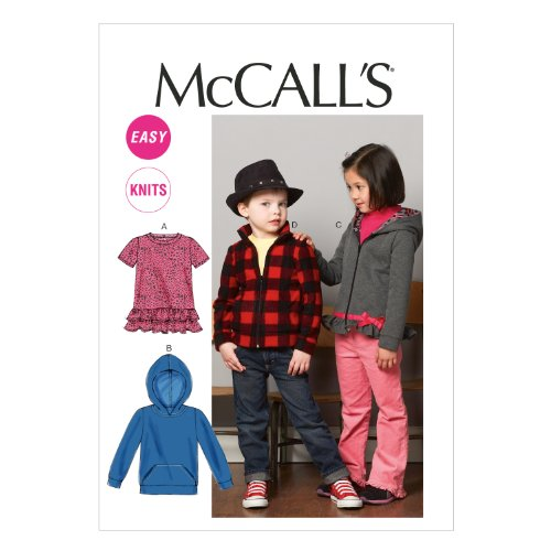 Price comparison product image McCall Pattern Company M6782 Children's/Boys'/Girls' Tops and Jackets Sewing Template, Size CL (6-7-8)