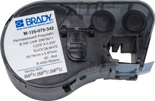 Brady M-125-075-342 Labels for BMP53/BMP51 Printers by Brady
