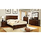 dunhill brown cherry queen size 6piece bedroom set