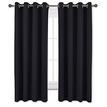 NICETOWN Black Out Curtains for Living Room - Easy Care Solid Thermal  Insulated Grommet Blackout Panels/Drapes for Bedroom Window (2 Panels, 52  inches ...