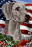 Weimaraner Dog Breed Patriotic House Flag 28 x 40 Inches For Sale