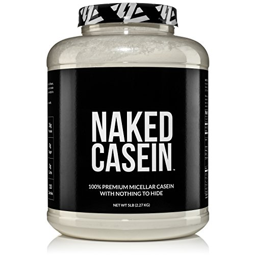 Naked Casein - 5LB 100% Micellar Casein Protein Powder from US Farms - Bulk, GMO-Free, Gluten Free, Soy Free, Preservative Free - Stimulate Muscle Growth - Enhance Recovery - 76 Servings (Best Whey Protein With Casein)