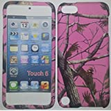 APPLE IPOD TOUCH 5G PINK CAMO Camouflage realtree Rubberized Leather Feel Hard Case Cover Snap-On