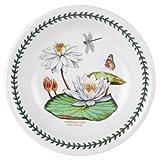 Portmeirion Exotic Botanic Garden Pasta Bowl with White Water Lily Motif, Set of 6
