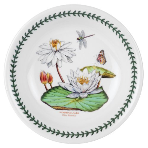 Portmeirion Exotic Botanic Garden Pasta Bowl with White Water Lily Motif, Set of 6 by Portmeirion