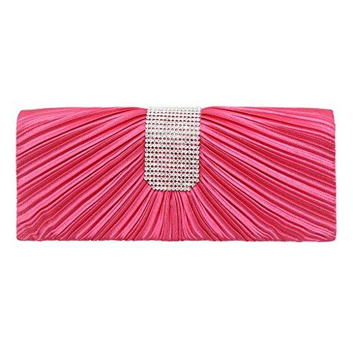 Handbag mariage soirée Wallet Rose Acrylic à de de Clutch pour main en PartySac embrayage Chaud femmes paillettes Pochette soirée faites Wanfor pour perles Purse 7TqxZwBRnO