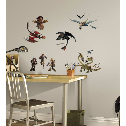 RoomMates Train Dragon Stick Decals
