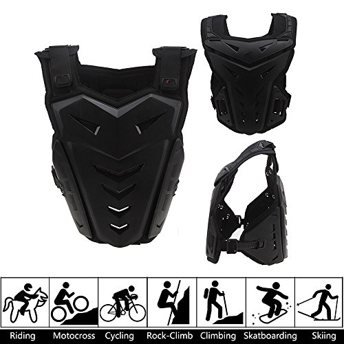 Chest Back Vest Armor Protector for Motocross Riding Skating Skiing Scooter by Possbay (Image #2)