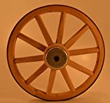 gun buggy shooting cart - Functional - Wood Wagon Wheel - Small Cart Wooden Wagon Wheels - 10 inch with 10 staggard spokes and 1/2 inch steel sleeve axle hole